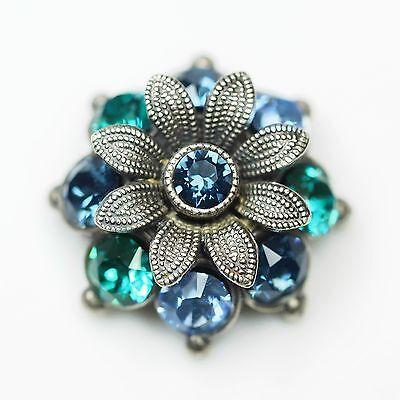 Neu AnhÄnger Mit Swarovski Steine In Montana/blue Zirkon/blau KettenanhÄnger