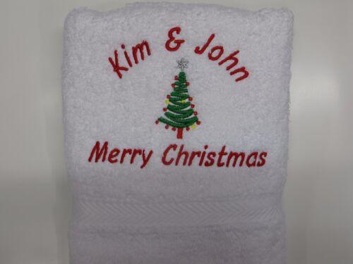 Personalised Christmas Hand Towel