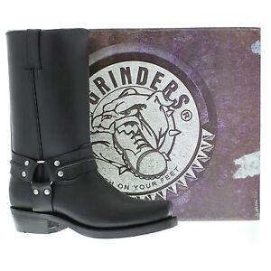 Western stivali Grinders Leather Hi Cowboy Boot High Renegade nero Unisex Bikers xgZqxP0v