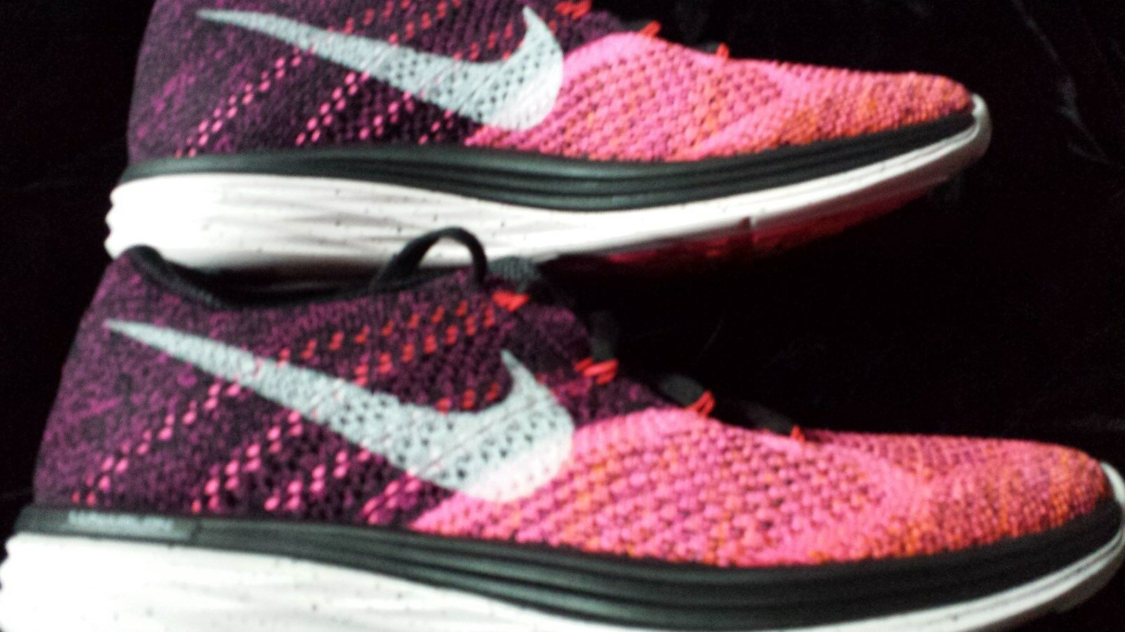 WOMENS NIKE  FLYKNIT LUNAR 3 PINK POW orange SZ 10.5