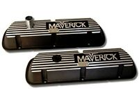 Ford Maverick 289 302 Valve Covers Aluminum Pair Small Block Only Powered