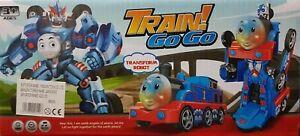 Transformer-Robot-Thomas-Engine-Bump-n-Go-Train-Blinksignale-Sound-Kinder-Spielzeug