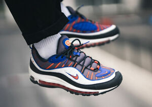 online store 0016e fcb24 Details about RARE NIKE AIR MAX 98 MEN'S TRAINERS, UK10, GUNSMOKE/TEAM  ORANGE, 640744012