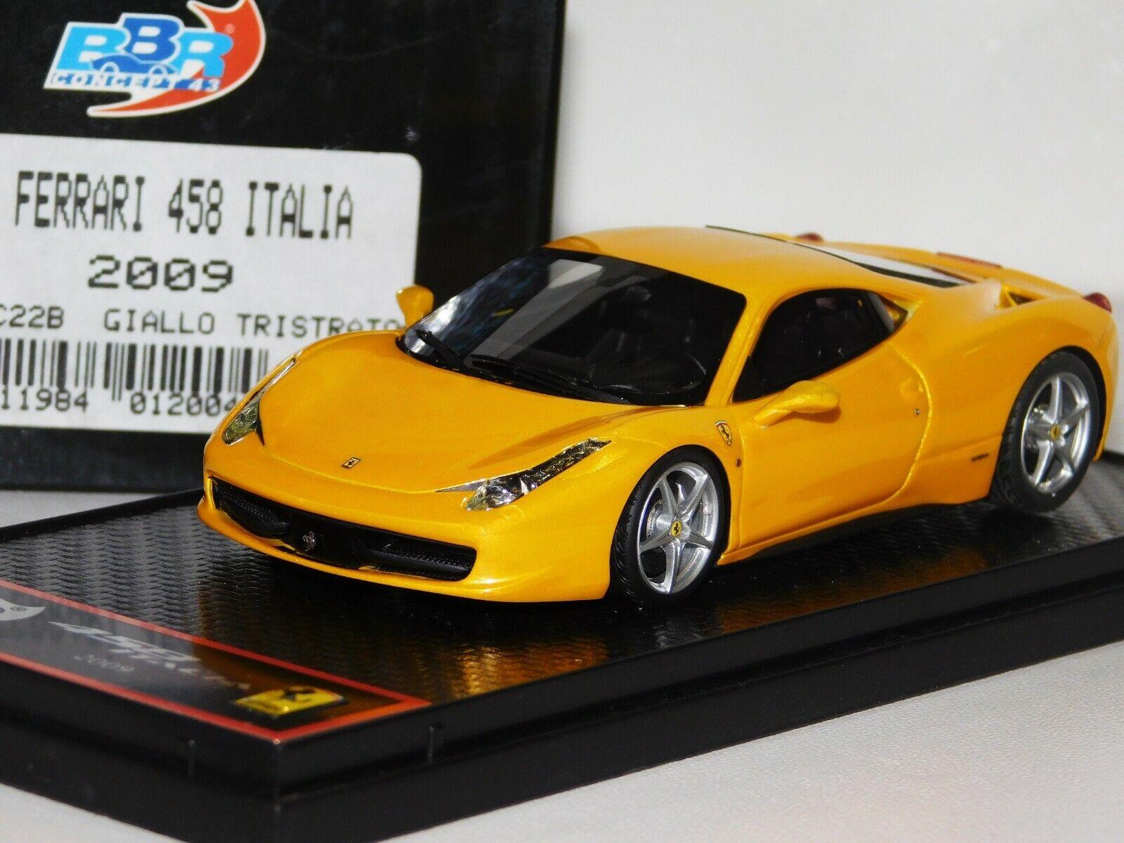 Ferrari 458 Italia 2009 jaune tristato BBR BBRC 22B 1 43