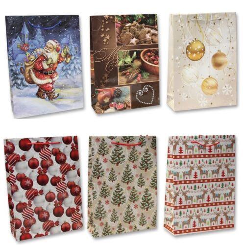 24 kleine Geschenktüten Weihnachten Weihnachtstüten Geschenktaschen MIX