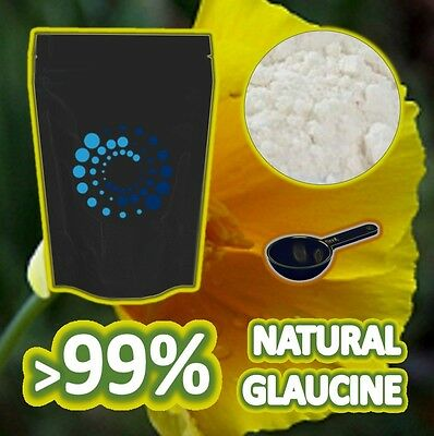 50g PURE GLAUCINE HBr >99% - Extract / Isolate from Yellow Horned Poppy!