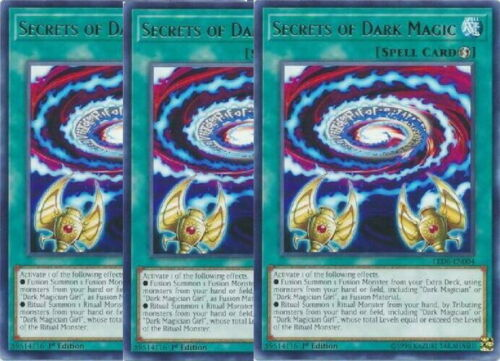 Yugioh Secrets of Dark Magic X3 Rare LED6 1st Edition Mint Playset