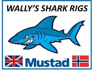 Shark Rig Bite Trace Big Game Rubbing Leader Circle or J Hook Mustad