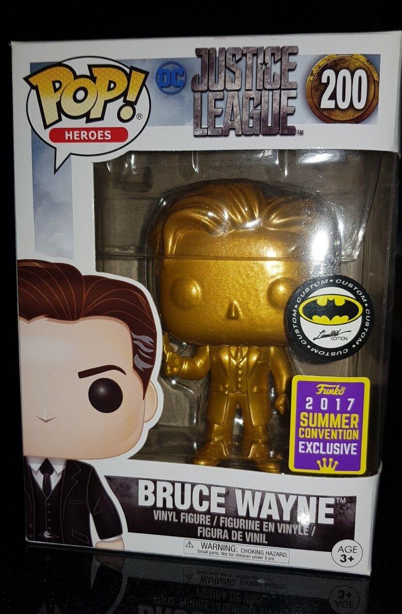 Bruce Bruce Bruce Wayne gold DC Justice League Pop Vinyl Figure Funko Rare c15ef5