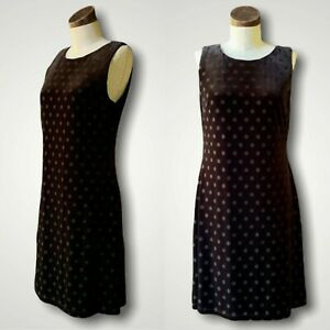 TOMMY HILFIGER NWT Sleeveless Black Polka Dot Velvet Dress 10 $130