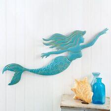 Metal Mermaid Wall Art Hanging Sculpture   Decor