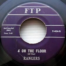 RANGERS 4 on the floor / Ghost riders in the sky 1961 SURF Hot Rod FTP 45 c2192