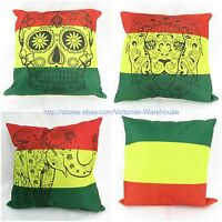 Wholesale 4pcs Rasta Reggae Skull Lion Elephant Cushion Cover Cotton Linen