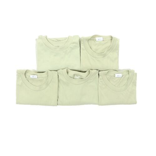 Lot of (5) Men Large 44 Army Tan T Shirts Moisture