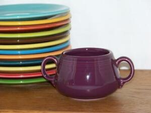 Fiesta-HEATHER-Small-Sugar-Bowl-Figure-8-Sugar-Body-Discontinued-Color