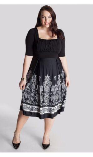zwart Nwt 14 Igigi wit en Isis jurk stretch Plus 16 size wa1qIp