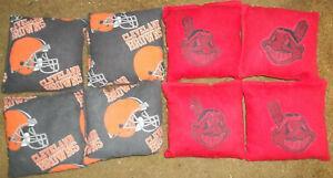 Set of 8 Cleveland Browns Ohio State University Cornhole Bags **FREE SHIPPING**