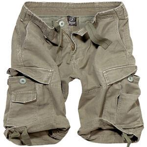 Olive Brandit Summer Shorts Classic Escursionismo Style Cadet Cargo Mens Combat Vintage S1wSrOv