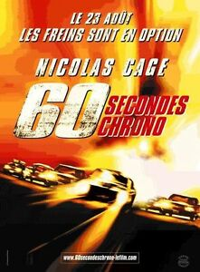 Affiche-40x60cm-60-SECONDES-CHRONO-GONE-IN-SIXTY-SECONDS-2000-Nicolas-Cage-NEUV