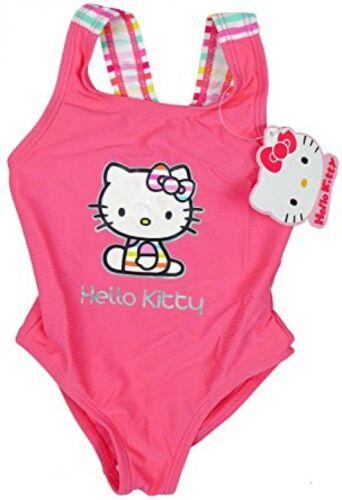 Girls Hello Kitty Rainbow Baby Swimming Costume Toddler Bathing Suit Pink body