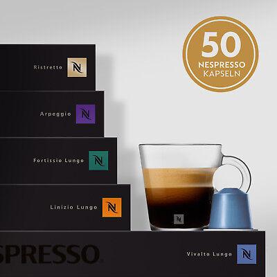 NESPRESSO BESTSELLER Kaffeekapseln Selektion 5 Stangen Kaffee 50 Kapseln Mix