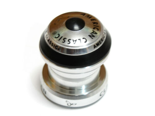"American Classic 1 1//8/"" Threadless Ultra-Light Headset Silver"
