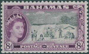 Bahamas-1954-SG209-8d-Paradise-Beach-QEII-MNH