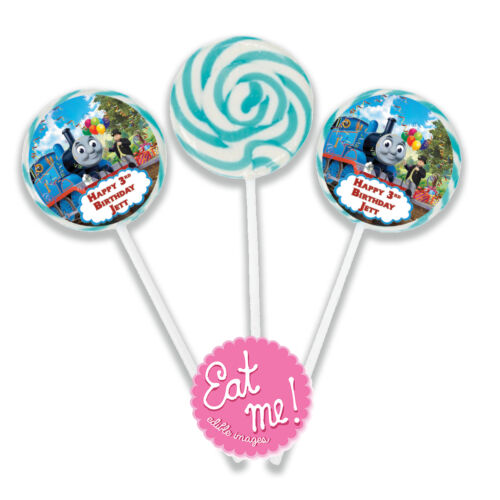 Planes Theme Personalised Lollipops 4.5cm with 4cm sticker