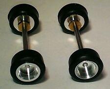 HO AFX  2 Front  Aluminum Rim Sets* *Threaded Rims w Slicks MINT NEW LOT