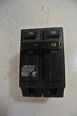 GE THQB THQB2115 2 pole 15 amp circuit breaker OLD STYLE