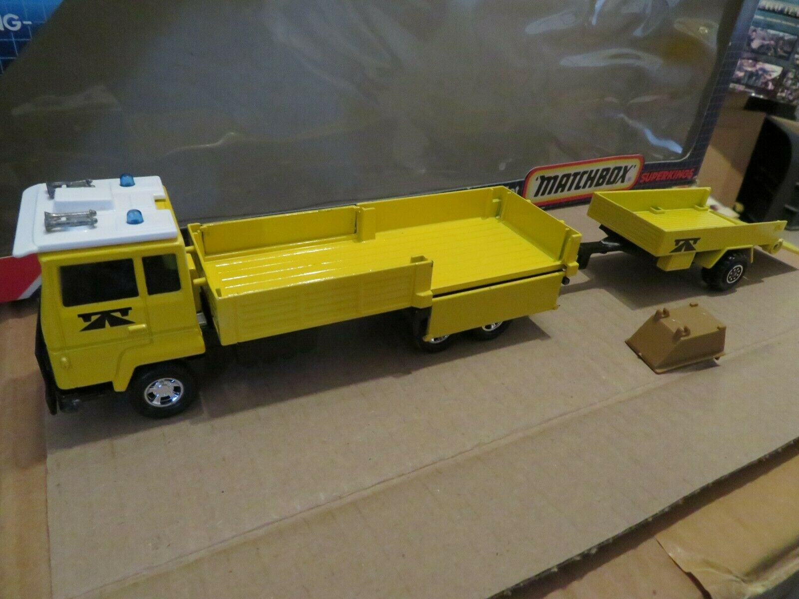 Matchbox SuperKings K-118 Road Repair Set Set Set Complete 1985 Nice with Box 1a70dd