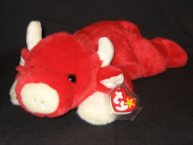 Buy Ty Beanie Buddy Red Bull Named Snort 2nd Generation Plush Toy ... ca999070de6