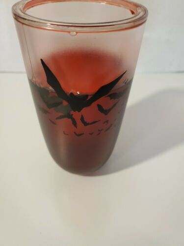 vampire tumbler cup 16 oz come in for a bite red blood w//floating bats new