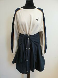 E140-WOMENS-SNIDEL-BLUE-WHITE-JUMPER-DRESS-WITH-WRAP-AROUND-ANORAK-UK-10-EU-36