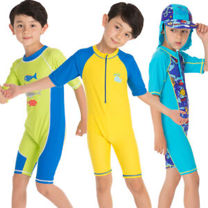 04647aa347 Toddler Kids Boys Swimsuit Swimwear UV Rash Guard Surfing Beachwear ...
