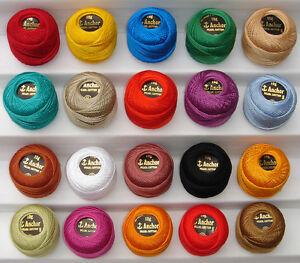 20 Anchor Crochet Cotton Thread Balls 20 Different