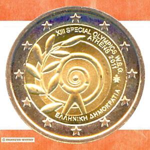 Sondermünzen Griechenland 2 Euro Münze 2011 Special Olympics Athen