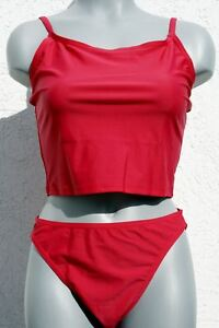 2018//19 Saison 400181 Gourami Marken Tankini Bikini Set mit Slip Rot Pink in 40