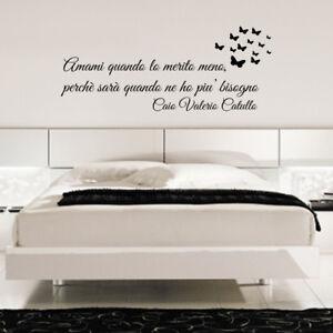 Dettagli su wall stickers frase personalizzata adesivi aforismi poeti  camera da letto a0051