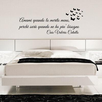 wall stickers frase personalizzata adesivi aforismi poeti camera da letto  a0051 | eBay