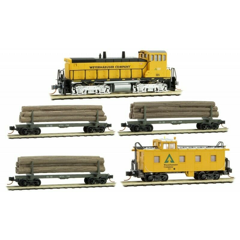 Micro-Trains N Scale 993 01 550 WeyerHaeuser Logging Set