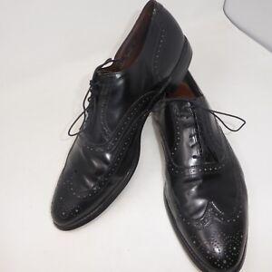 ALLEN-EDMONDS-Comb-Cap-Toe-Oxford-Black-Leather-Lace-Up-Size-14-C-Brogue-USA-VNG