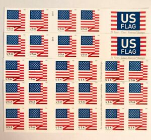 100 US Flag 2018 Forever Postage Stamps (5 books of 20)