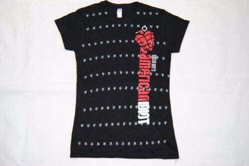 Green day american stupide stars logo femmes skinny t shirt nouveau officiel défécation