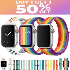 Silicone Band Strap for Apple Watch Series SE/1/2/3/4/5/6/7 Sports 38/40/42/44MM