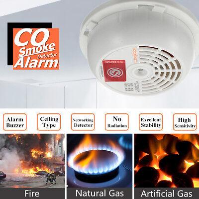 CO Carbon Monoxide Smoke Gas Sensor Warning Alarm Detector Tester Ceiling Mount