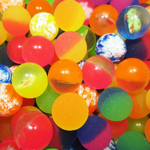 10pcs Elastic High Rubber Bouncy Ball Assorted Children Funny Toys Party Gifts