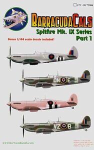 Complexé Barracuda Décalques 1/72 Supermarine Spitfire Mk.ix Séries Pièce 1 #72004 Pour Aider à DigéRer Les Aliments Gras