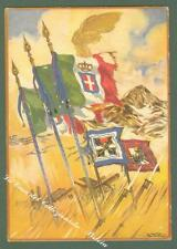 XXIV DIVISIONE GRAN SASSO. Cartolina d'epoca. Edizioni Boeri, circa 1935...