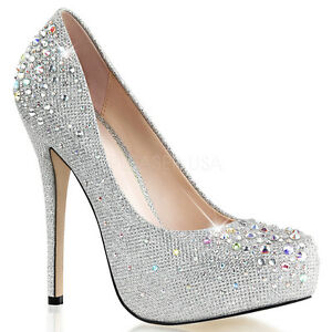 Silver Formal Heels